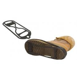 Anti slipzool *UNIBOOT dubbele Grip* met spikes op de voorvoet en hak (model 4690)